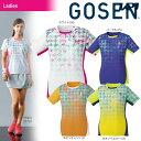 『全品10%OFFクーポン対象』ゴーセン GOSEN テニスウェア レディース ゲームシャツ T1807 2018SS