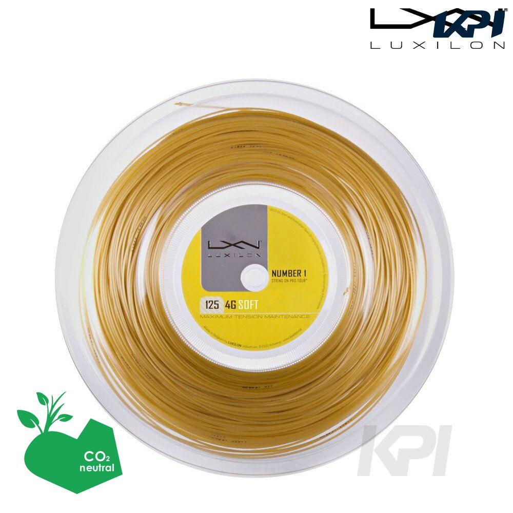 『即日出荷』「2016新製品」LUXILON(ルキシロン)「4G Soft(4Gソフト) 1.25 200mロール WRZ990143」硬式テニスストリング(ガット)「あす楽対応」