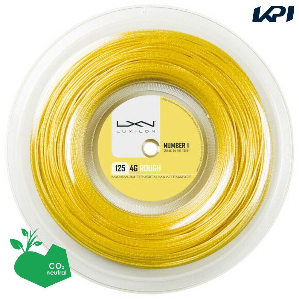 『即日出荷』LUXILON(ルキシロン)「LUXILON 4G ROUGH 125 200mロール WRZ990144」硬式テニスストリング(ガット)「あす楽対応」