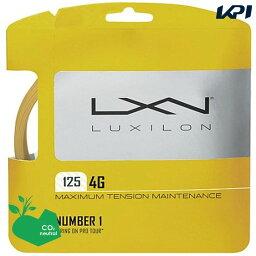 【10%OFFクーポン対象▼〜6/20】LUXILON(ルキシロン)「LUXILON 4G 125 WRZ997110」硬式テニスストリング(ガット)