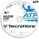 『即日出荷』Tecnifibre(テクニファイバー)「RAZOR CODE 1.25(レーザーコード1.25)200mロール TFR514」テニスストリング(ガット)「あす楽対応」【KPI】