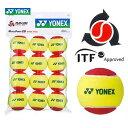 【全品10%引クーポン対象】YONEX(ヨネックス)「マッスルパワーボール20(STAGE3 RED) TMP20(12個入り)」キッズ/ジュニア用テニスボール