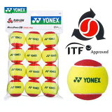 YONEX(ヨネックス)「マッスルパワーボール20(STAGE3 RED) TMP20(12個入り)」キッズ/ジュニア用テニスボール