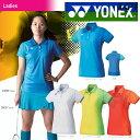 【ポイント10倍】「2016新製品」YONEX(ヨネックス)「Ladies ウィメンズポロシャツ(スリムロングフィットタイプ) 20298」テニス&バドミントンウェア「2016SS」