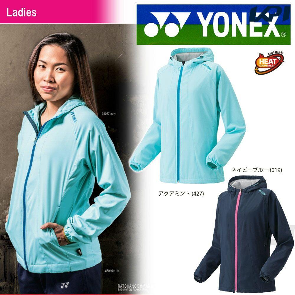 「2016新製品」YONEX(ヨネックス)「Ladies レディース 裏地付きウィンドウォーマーシャツ(フィットスタイル) 78047」ウェア「2016FW」【KPI】