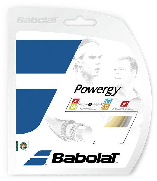 「あす楽対応」 BabolaT(バボラ)「POWERGY(パワジー)130 BA241116」硬式テニスストリング(ガット)[ネコポス可]『即日出荷』