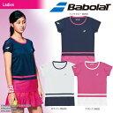 バボラ Babolat テニスウェア レディース SHORT SLEEVE SHIRT ショートスリーブシャツ BTWLJA07 2018SS