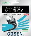 『即日出荷』 GOSEN(ゴーセン)「テックガット マルチCX 17」TS661 硬式テニスストリング(ガット)「あす楽対応」【KPI】[ネコポス可]