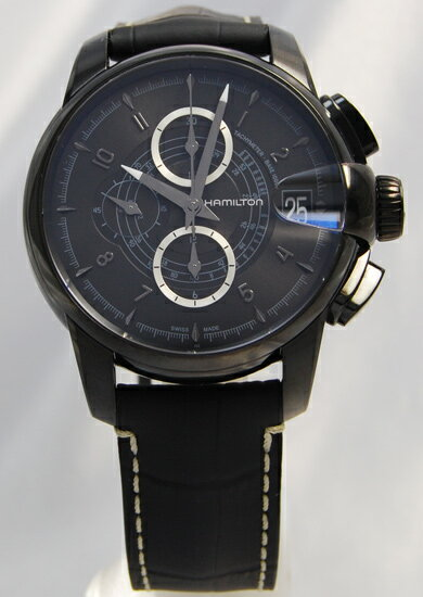Hamilton railroad auto Chrono all black H40686335