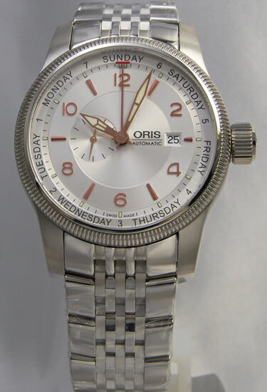 Oris big Crown small second / pointer 645.7629.40.61M