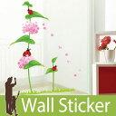 【送料無料】 ウォールステッカー 花 てんとう虫 壁紙シール ウォールステッカー 北欧 ウォールステ