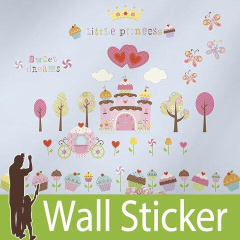 ウォールステッカー プリンセス [カップケーキランド] ルームメイツ RoomMates ウォールステッカー 北欧 ウォールステッカー 木 ウォールステッカー トイレ ウォールステッカー アルファベット 子供部屋 05P05Nov16