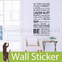 RoomClip商品情報 - ウォールステッカー 子供 英字 英文(IN THIS HOUSE ウォールステッカー 北欧 トイレ アルファベット 英字 壁紙 はがせる 壁シール シールタイプ DIY ウォールデコシート 壁紙シール リメイクシート インテリアシート カッティングシート 05P05Nov16