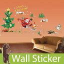 ウォールステッカー クリスマス 飾り 壁紙 サンタクロース クリスマスツリー 50×70 ウォールステッカー 北欧 ウォールステッカー 木 ウォールステッカー 英字 ウォールステッカー 壁紙 トイレ ウォールデコシート 壁紙シール リメイクシート 05P05Nov16