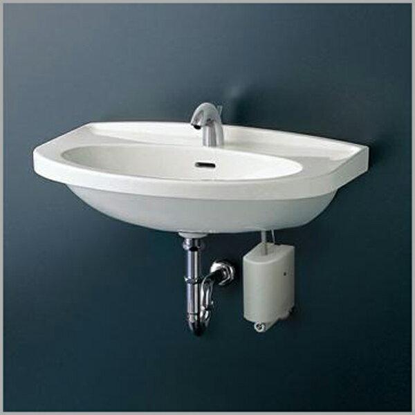 【TOTO】壁掛洗面器(大形) Sトラップセット 床排水 単水栓 L260C TLC11AR コンテンポラリシリーズ 立水栓 一般地・寒冷地共用 取付金具セット 693X500 容量8.5L