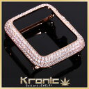 Apple watch 42mm CZダイヤ(キュービック・ジルコニア) カスタムベゼル ケース ROSE GOLD