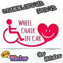 WHEELCHAIRINCAR 20cm 車椅子用ステッカー 福祉車両 国際シンボルマーク 介護車