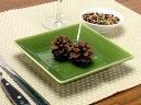 [在庫限り] スクエア オリベ深皿 13.5cm [ スクエアプレート 角皿 緑色 洋食器 業務用 ]