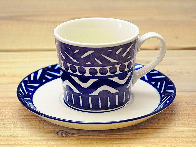 北欧風バッケコーヒーカップ&ソーサー[碗皿北欧柄洋食器]