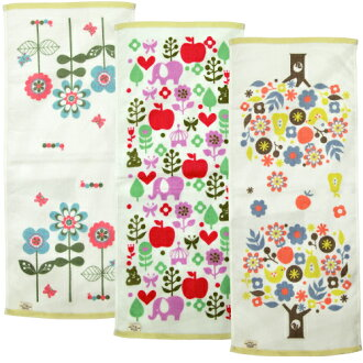 Flowery Flowery face towel wear crosses view Shinzi Katoh syndicate 34 × 80 cm fs3gm10P11Apr15 P 25 Apr 15