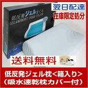 (2)ひんやり 涼しい 低反発ジェル枕(箱入り)吸水速乾枕カバー付(20170816)...