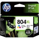 日本HP インクカートリッジ カラー T6N11AA(HP804XL カラー増量)