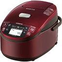 【期間限定特価】【送料無料】日立 IHジャー炊飯器 5.5合炊き「圧力&スチーム 蒸気カット 極上炊き」メタリックレッド RZ-MV100K(R) RZMV100KR