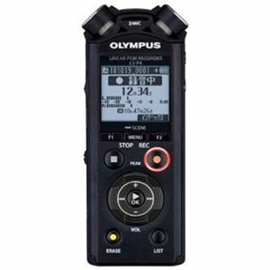 【納期約1〜2週間】olympus オリンパス LS-P4-BLK 【ハイレゾ音源対応】リニアPCMレコーダー 8GB ブラック LSP4BLK