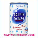 楽天オールネショップ★お得なクーポン配信中★アサヒ飲料14 カルピスソーダ 160ml缶 1ケース30本