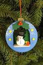 【予約販売♪12月10日〜12月12日前後の出荷予定】 CHRISTIAN ULBRICHT ☆オーナメント☆ ドイツの木工芸品 クリスマスツリー 装飾 ザイフェン マスコット 本場 雑貨 プレゼント 贈り物 かわいい Christmas Ball With Snowman Ornament by KSINTERONLINE