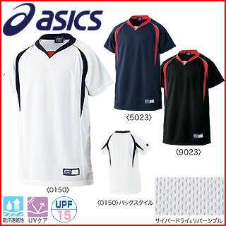 ASICS-asics-boy baseball uniforms Jr... practice t-shirt BAD04J