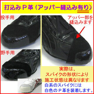 Spikes add: placing P leather upper 縫込み there is P-KAWA-UPN
