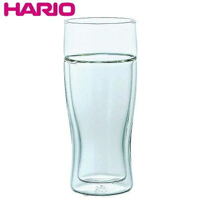 HARIOハリオ12オンス耐熱ガラスツインビアグラスΦ74×H167mm(380ml12oz)食器洗