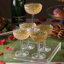 割れない グラス シャンパンタワーセット トレイ付 クリア トライタン