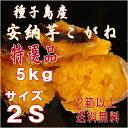 2口以上購入で送料無料【安納芋】長期熟成種子島産甘蜜芋安納芋こがね(もみじ)2Sサイズ5kg入り芋類4.6以上の信頼
