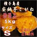 秀品2口以上購入で送料無料【北海道・東北別途送料となります】【安納芋】長期熟成種子島産甘蜜芋安納芋こがね(もみじ)Sサイズ5kg入り