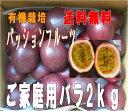 送料込み ご自宅用パッションフルーツたっぷり2kg20個前後有機肥料栽培【北海道500円・東北300