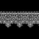 ケミカルレース 生地 切り売り綿糸 オフ白 約35mm幅国内生産なので安心ベビー、子供服、婦人衣料、手芸ブライダル、インテリア、和装小物細番手のレース糸を使用した最高級ケミカルレースです