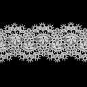 ケミカルレース 生地 切り売り綿糸 オフ白 約38mm幅ベビー 子供服 婦人衣料 手芸ブライダル インテリア 和装小物細番手のレース糸を使用した最高級ケミカルレースです