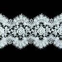 ケミカルレース 生地 切り売り綿糸 オフ白 約47mm幅国内生産なので安心ベビー、子供服、婦人衣料、手芸ブライダル、インテリア、和装小物綿糸を使用した最高級ケミ...