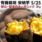ギフト 安納芋 有機 プチ安納芋 安納いも あんのう芋 蜜芋 五島列島 オーガニック S/2Sサイズ 3kg