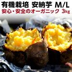 ギフト 安納芋 有機 安納芋 安納いも あんのう芋 蜜芋 五島列島 オーガニック MLサイズ A品 3kg