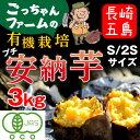 有機 プチ安納芋 安納いも あんのう芋 蜜芋 五島列島 オーガニック S/2Sサイズ 3kg