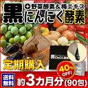 【定期購入】送料無料!【黒にんにく酵素+野菜酵素&梅エキス×90包】