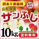 りんご訳ありサンふじ山形県産家庭用10kg送料無料