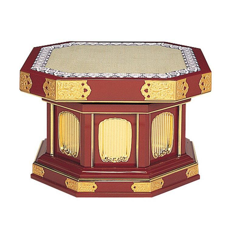 隅切回転式礼盤 金具付 朱塗or黒塗 日本製 (1400-0100)