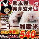 熊本県産発芽玄米使用 人気のくまモンパッケージ 二十一雑穀米 21雑穀 雑穀米 雑穀 TVで話題の大麦(もち麦)入り雑穀米