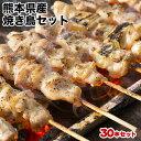 熊本県産 焼き鳥 セット たっぷり 30本 送料無料 (もも身/もも身ねぎま/むね身/むね身ねぎま/豚バラ)《14営業日以内に出荷(土日祝日除く)》