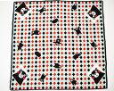【送料無料】【人気のくまモングッズ】くまモンシャンタンハンカチ 菱格子 約サイズ 53cm×53cm メール便商品