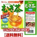 ハウス むぎ茶(冷水用)1L用16袋入り ティーバックタイプ×20箱 【送料無料・同梱